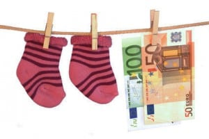 Geld Kinderschuhe Schnuller